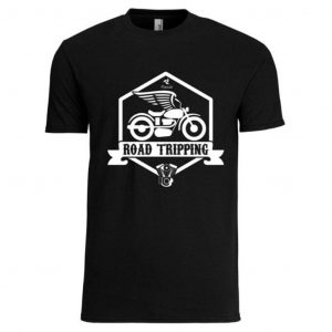 road tripping biker tshirt